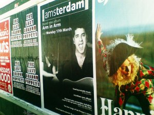 Amsterdam poster in Liverpool