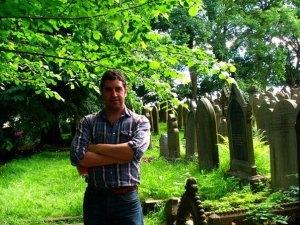 Ian in the graveyard
