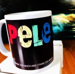 Pele mug 'I think too much and I drink too much'