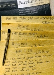 Ian Prowse lyrics on parchment